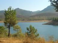 Vistas desde el pantano de Cancho del Fesno.
