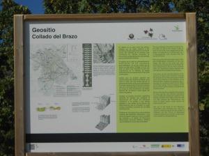 Tablón Informativo del Geo parque.