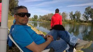 A orillas del río Guadiana.