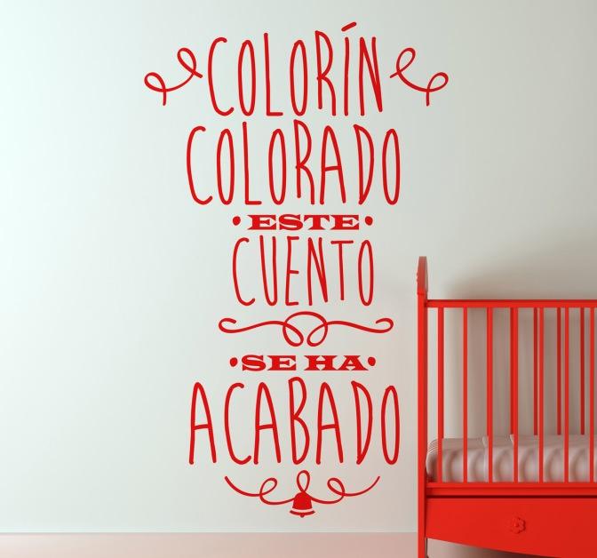 Colorin colorado todos los cuentos se han acabado.